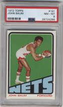 1972-73 Topps #191 John Baum PSA 8 New York Nets
