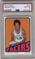 1972-73 Topps #219 Freddie Lewis PSA 8 Indiana Pacers