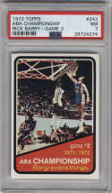 1972-73 Topps #242 ABA Playoffs Game 2 PSA 7
