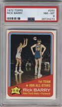 1972-73 Topps #250 Rick Barry AS PSA 8 New York Nets