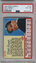 1962 Post Cereal #172 Dick Groat PSA 4 Pittsburgh Pirates