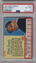 1962 Post Cereal #172 Dick Groat PSA 6 Pittsburgh Pirates