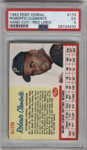1962 Post Cereal #173 Roberto Clemente VAR PSA 5 Pittsburgh Pirates