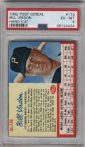 1962 Post Cereal #175 Bill Virdon PSA 6 Pittsburgh Pirates