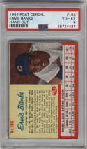 1962 Post Cereal #188 Ernie Banks PSA 4 Chicago Cubs