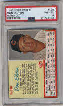 1962 Post Cereal #190 Don Elston PSA 4 Chicago Cubs