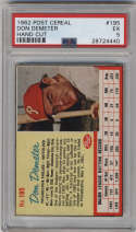 1962 Post Cereal #195 Don Demeter PSA 5 Philadelphia Phillies