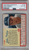 1962 Post Cereal Canadian #108 Johnny Podres PSA 4 Los Angeles Dodgers