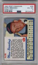 1962 Post Cereal Canadian #28 Marv Breeding PSA 4 Baltimore Orioles
