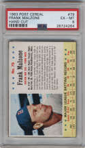 1963 Post Cereal #79 Frank Malzone PSA 6 Boston Red Sox