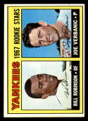 1967 Topps #442 Bill Robinson/Joe Verbanic Yankees Rookies DP EX/NM RC Rookie New York Yankees