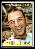 1967 Topps #443 Tito Francona DP EX Excellent Philadelphia Phillies
