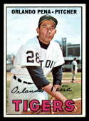 1967 Topps #449 Orlando Pena EX/NM Detroit Tigers