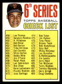 1967 Topps #454 Juan Marichal Checklist EX Excellent San Francisco Giants