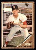 1962 Topps #383 Ray Sadecki G/VG Good/Very Good St. Louis Cardinals