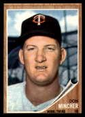 1962 Topps #386 Don Mincher VG Very Good Minnesota Twins