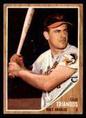 1962 Topps #420 Gus Triandos VG Very Good Baltimore Orioles