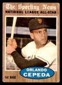 1962 Topps #390 Orlando Cepeda AS VG Very Good San Francisco Giants