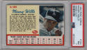 1962 Post Cereal #104 Maury Wills PSA 7 Los Angeles Dodgers