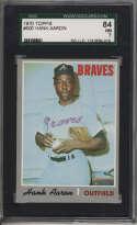 1970 Topps #500 Hank Aaron SGC 84 7 Atlanta Braves
