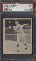 1939 Play Ball #31 Sam West PSA 5.5 Salesman Sample Washington Senators
