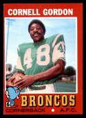 1971 Topps #256 Cornell Gordon NM Near Mint Denver Broncos