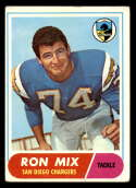1968 Topps #89 Ron Mix VG Very Good San Diego Chargers