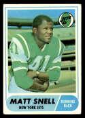 1968 Topps #117 Matt Snell VG Very Good New York Jets