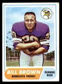 1968 Topps #133 Bill Brown VG/EX Very Good/Excellent Minnesota Vikings