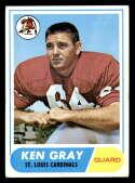 1968 Topps #138 Ken Gray VG/EX Very Good/Excellent St. Louis Cardinals