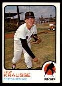 1973 Topps #566 Lew Krausse NM Near Mint Boston Red Sox