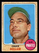 1968 Topps #461 Chuck Hiller VG/EX Very Good/Excellent Pittsburgh Pirates