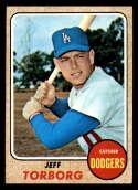 1968 Topps #492 Jeff Torborg EX/NM Los Angeles Dodgers