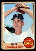 1968 Topps #496 Steve Hamilton G Good New York Yankees