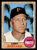 1968 Topps #584 Larry Shepard MG hole RC Rookie Pittsburgh Pirates