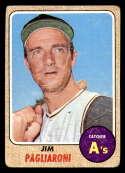 1968 Topps #586 Jim Pagliaroni G/VG Good/Very Good Oakland Athletics