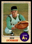 1968 Topps #422 Rene Lachemann NM Near Mint Oakland Athletics