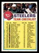 1973 Topps Team Checklists #22 Pittsburgh Steelers marked Pittsburgh Steelers