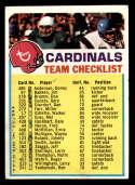 1973 Topps Team Checklists #23 St. Louis Cardinals **var marked St. Louis Cardinals 2 stars