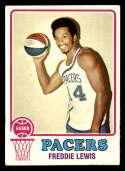 1973-74 Topps #212 Freddie Lewis EX/NM Indiana Pacers