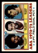 1973-74 Topps #235 ABA 2 Pt. Pct. Artis Gilmore/Gene Kennedy/Tom Owens VG Very Good
