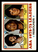 1973-74 Topps #238 Artis Gilmore/Mel Daniels/Billy Paultz VG/EX Very Good/Excellent Kentucky Colonels/Indiana Pacers/New York Nets