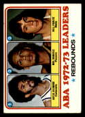1973-74 Topps #238 Artis Gilmore/Mel Daniels/Billy Paultz EX Excellent Kentucky Colonels/Indiana Pacers/New York Nets