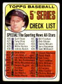 1969 Topps #412 Mickey Mantle Checklist 426-512 DP marked New York Yankees