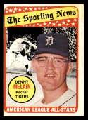 1969 Topps #433 Denny McLain AS EX Excellent Detroit Tigers